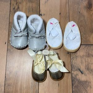 3pair BRAND new crib shoes Janie Jack Ralph Lauren
